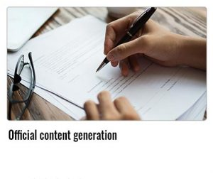 Official-content-generation