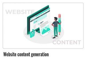 Website-content-generation